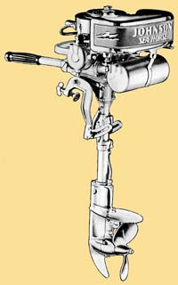 Johnson F-75 outboard drawing