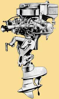 Johnson SR-PR Racing outboard drawing