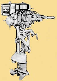 Johnson V-65-70 outboard drawing