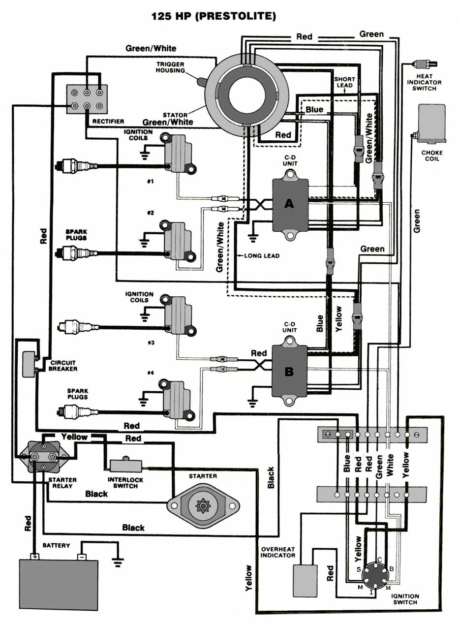 Chrysler Outboard Wiring Diagrams Mastertech Marine 2 7 Engine Diagram 125 Hp Prestolite Ignition