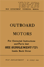 Cover, WW2 US Military Storm Motor manual