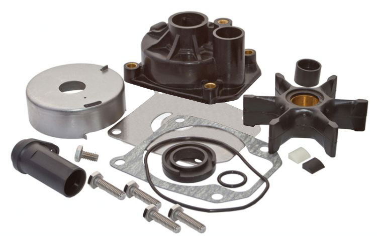 EVINRUDE & JOHNSON WATER PUMP KITS AND IMPELLERS 55 HP AND LARGER 2