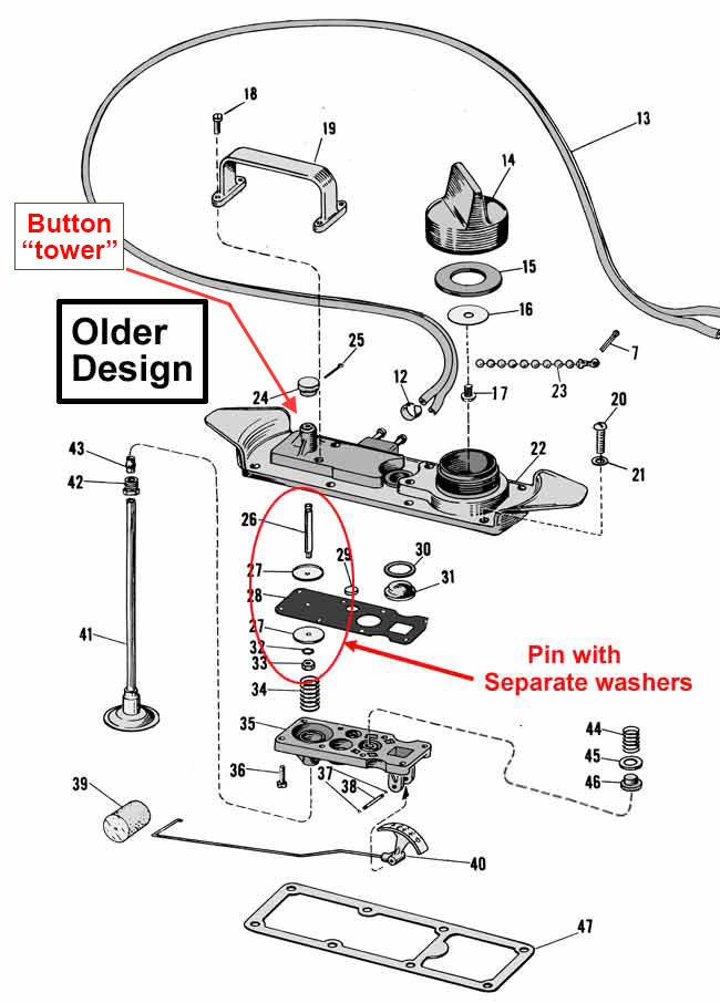 vintage johnson outboard fuel tank parts Search Results – Johnson Outboard Tachometer Wiring