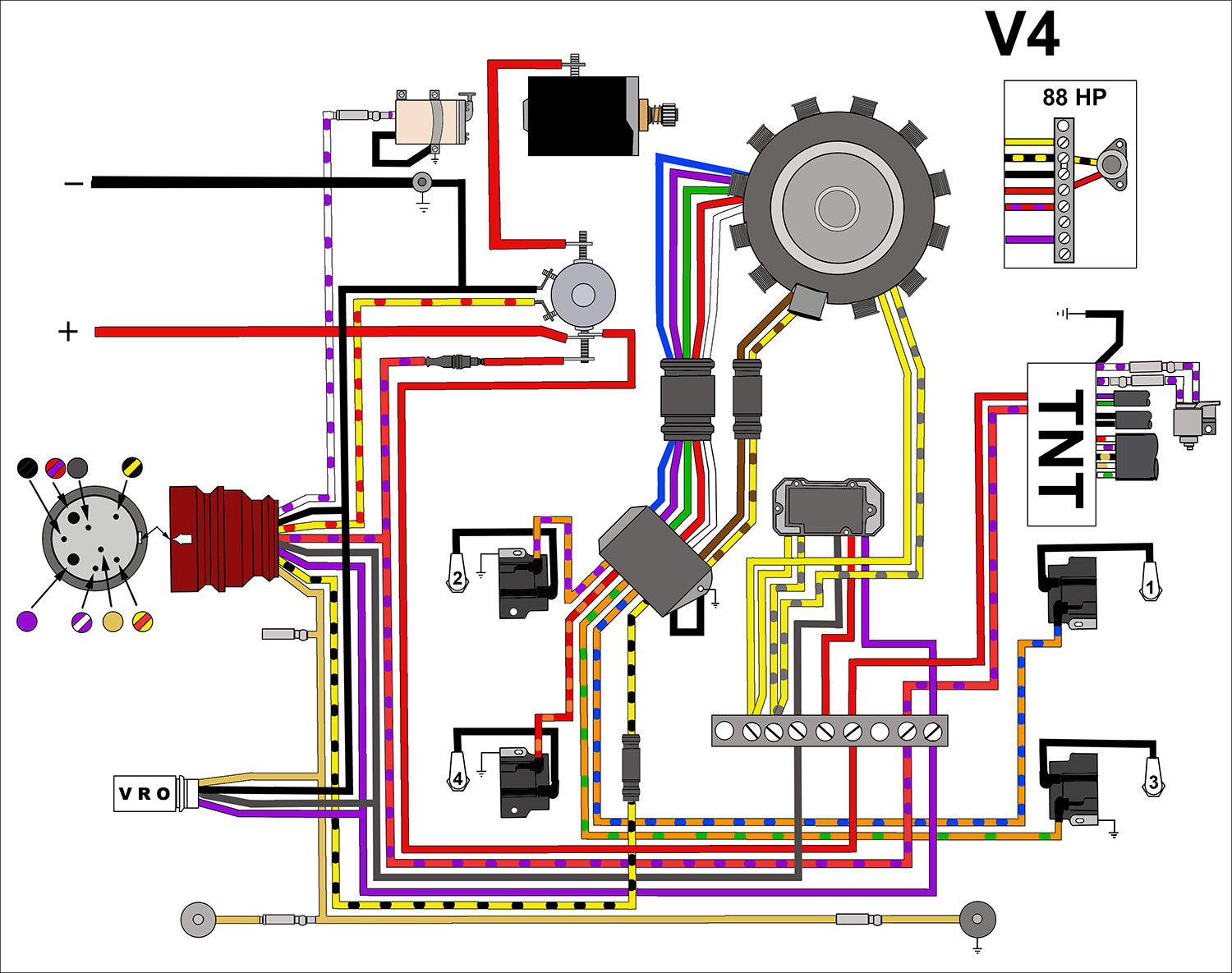 Johnson Switch Diagram Wiring Schematics Four Way Wire Evinrude Outboard Diagrams Mastertech Marine Limit