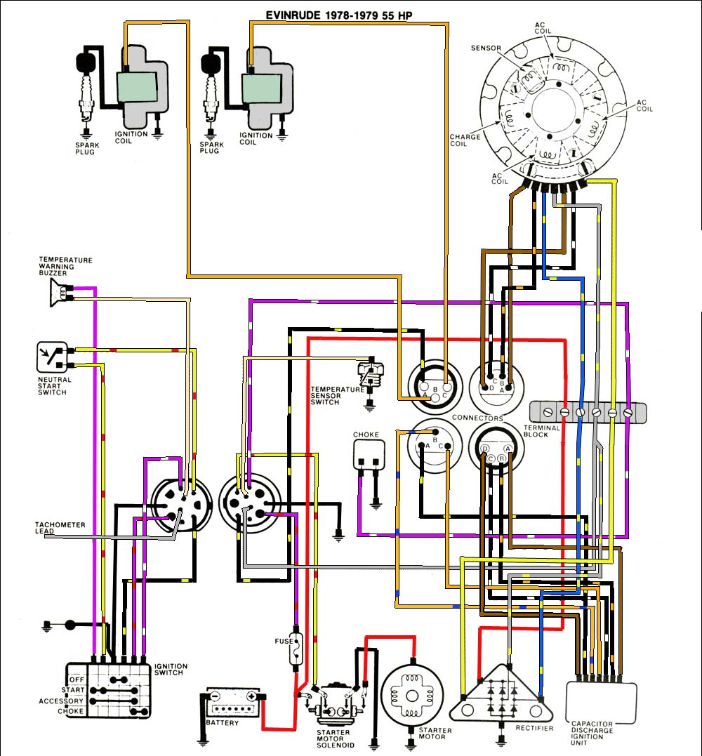 johnson wiring diagram telecaster mastertech marine -- evinrude johnson outboard wiring diagrams #6