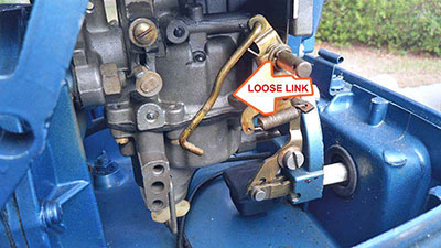 Evinrude 10 HP 1960 loose linkage