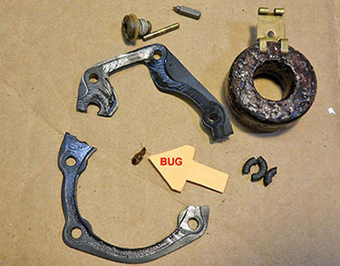 Johnson Evinrude carb disassembled