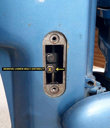 Evinrude 10 HP 1960 shift shaft disconnect