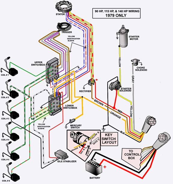 mercury outboard wiring diagrams mastertech marin mercury outboard rectifier wiring diagram Mercury Ignition Wiring Diagram #8