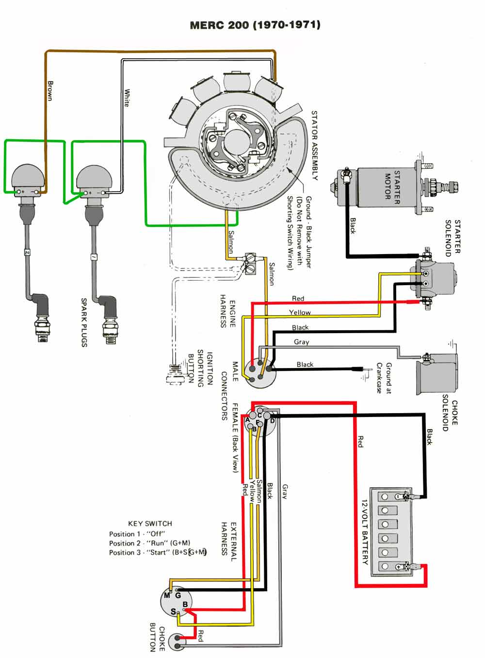 mercury outboard wiring diagrams -- mastertech marin mercury xr4 wiring diagram mercury 6 wire ignition switch diagram mastertech marine