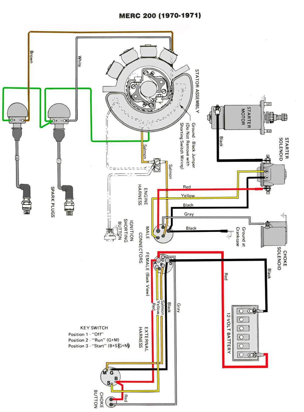 Mercury Outboard Wiring diagrams -- Mastertech Marin MASTERTECH MARINE
