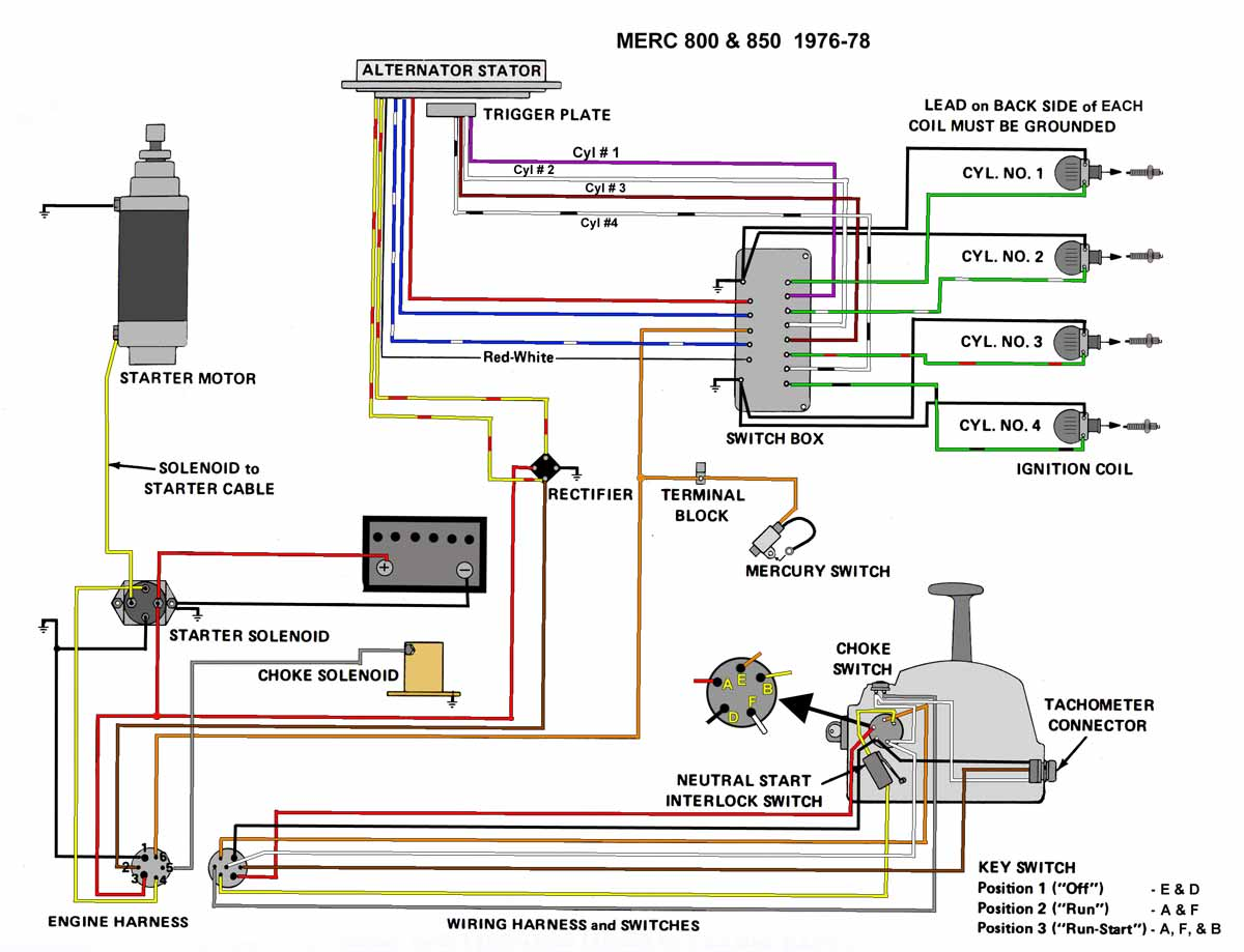 1989 mercury 80 hp outboard wiring diagram mercury outboard wiring diagrams -- mastertech marin #4